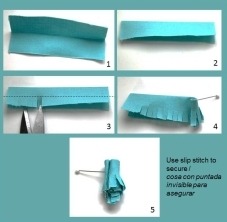 fabric tassels Tuto