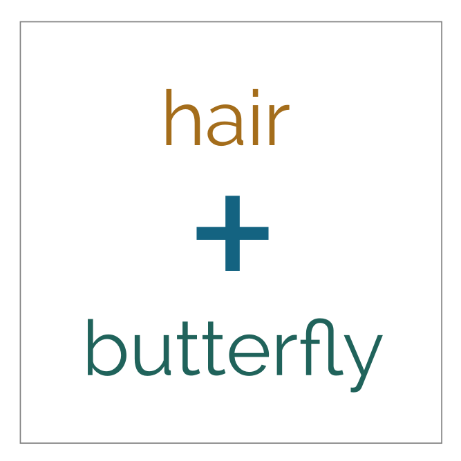 hair butterfly.svg