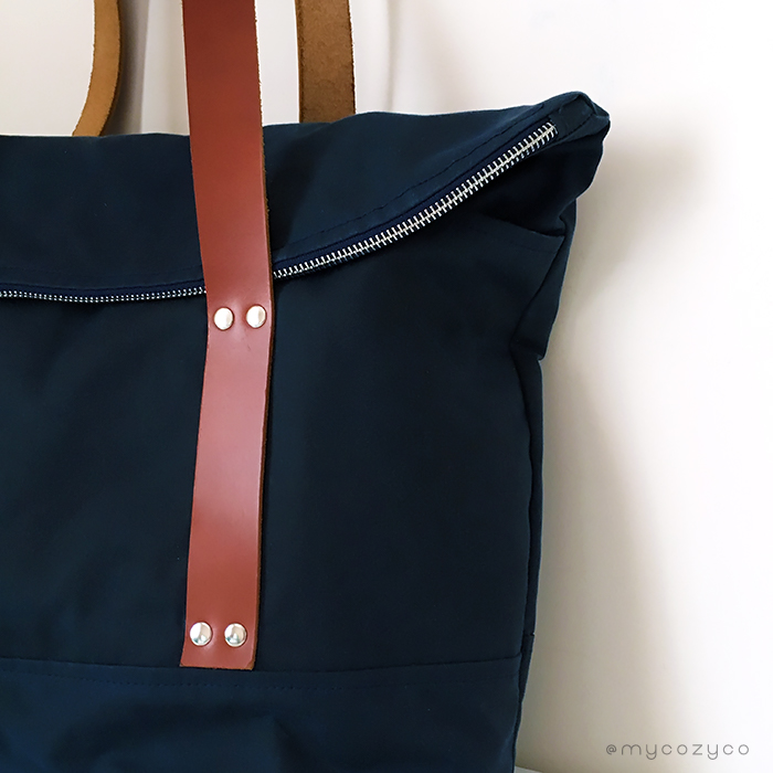 I made a bag for me-The Senna Tote/cosiendo una cartera para mi